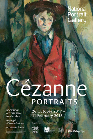 Cézanne Portraits Exhibition Poster