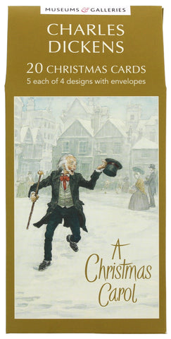 Charles Dickens Christmas Card 20 Pack
