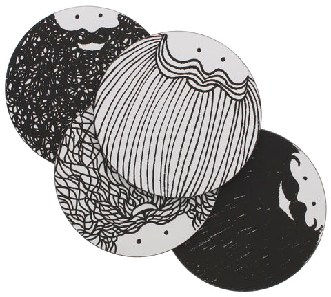 Hubert and George 4 Round Coasters