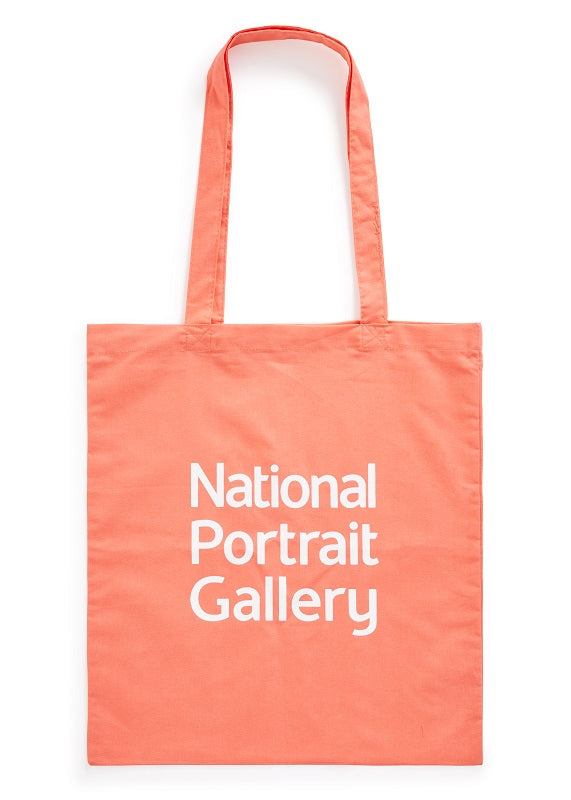 Coral National Portrait Gallery Logo Tote Bag
