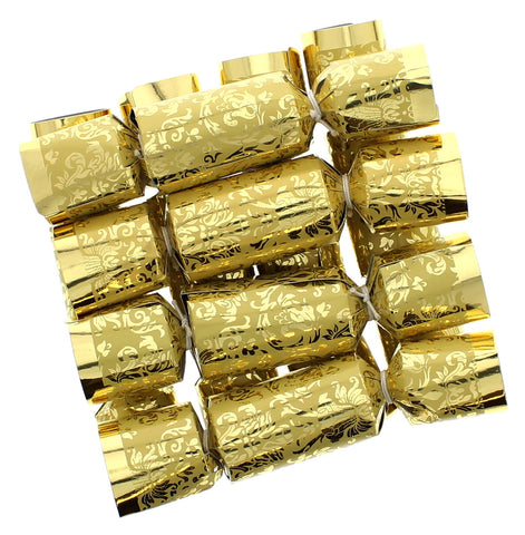Gold Mini Wine Charm Christmas Crackers