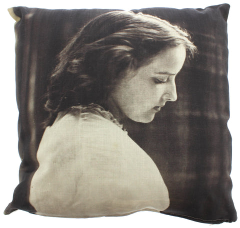 Unknown young woman Cushion