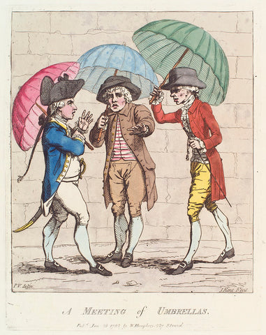 'A meeting of umbrellas' NPG D12299 Portrait Print