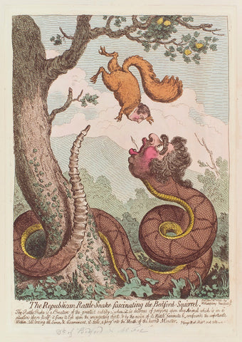 'The Republican rattle-snake fascinating the Bedford-squirrel' NPG D12547 Portrait Print