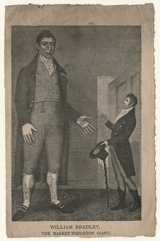William Bradley and an unknown man NPG D20531 Portrait Print