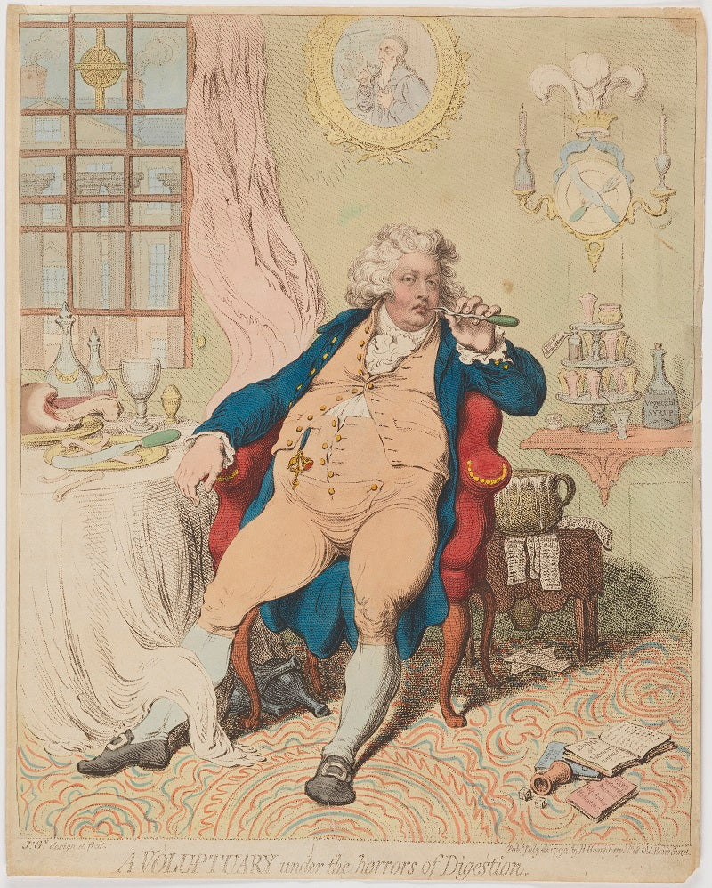 'A voluptuary under the horrors of digestion' (King George IV) NPG D33359 Portrait Print