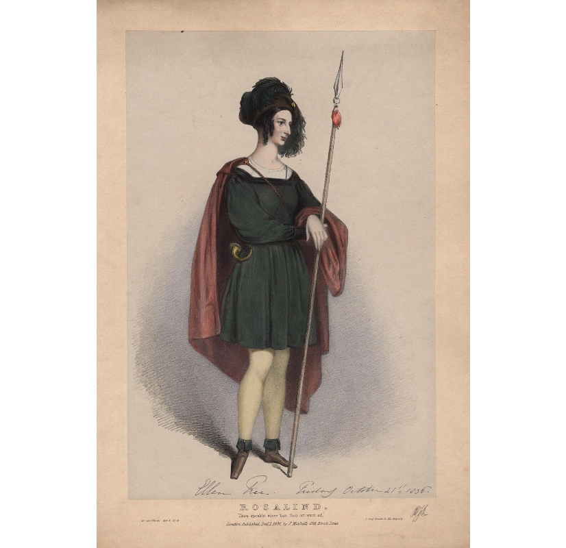 Eleanora ('Ellen') Kean (née Tree) as Rosalind in 'As You Like It' NPG D3454 Portrait Print