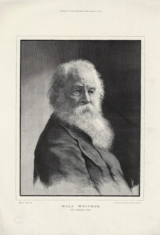 Walt Whitman NPG D37573 Portrait Print