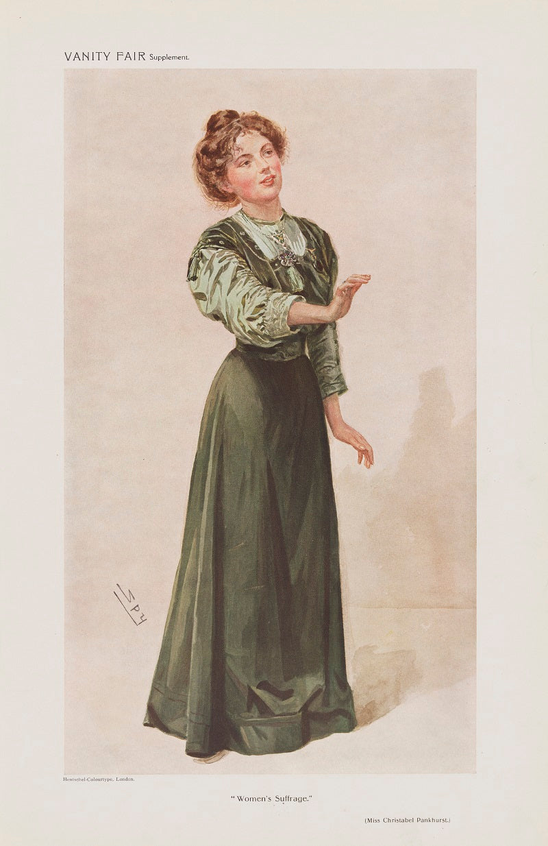 "Dame Christabel Pankhurst ('A Woman of the Day. ""Women's Suffrage.""') NPG D45561 Portrait Print"