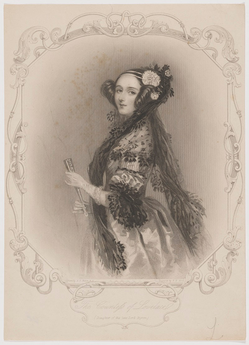Ada Lovelace NPG D5124 Portrait Print