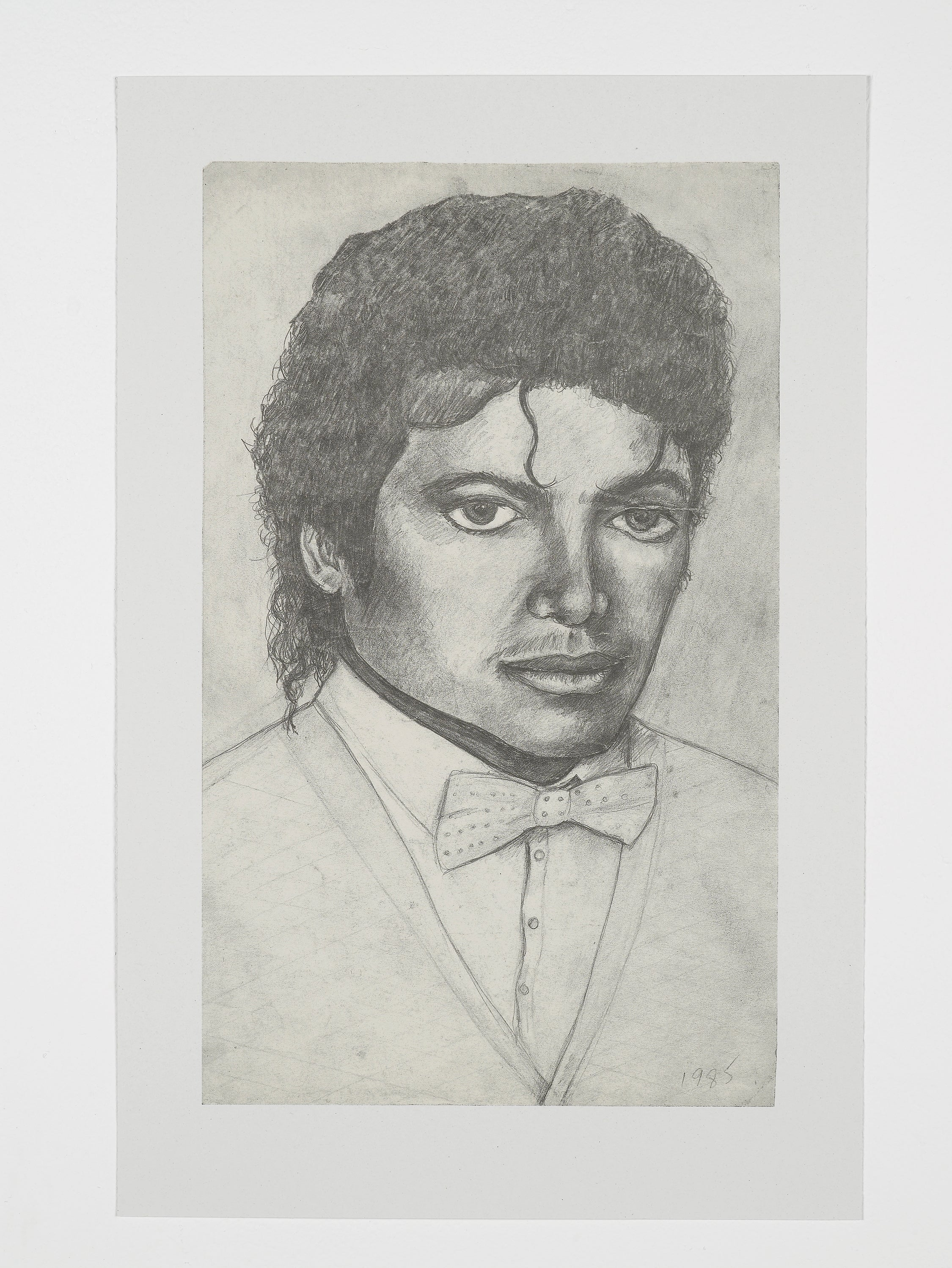 Michael Jackson, 1985/2011 by Dawn Mellor Unframed Print