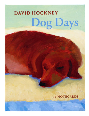 David Hockney Dog Days 16 Notecards