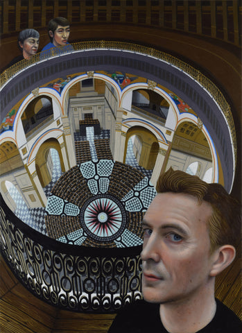 David Mitchell and the Whispering Gallery, novelist (unframed)