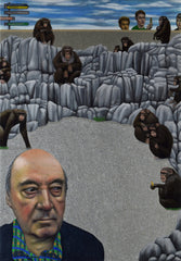 Desmond Morris and The Monkey Penn, zoologist (unframed)