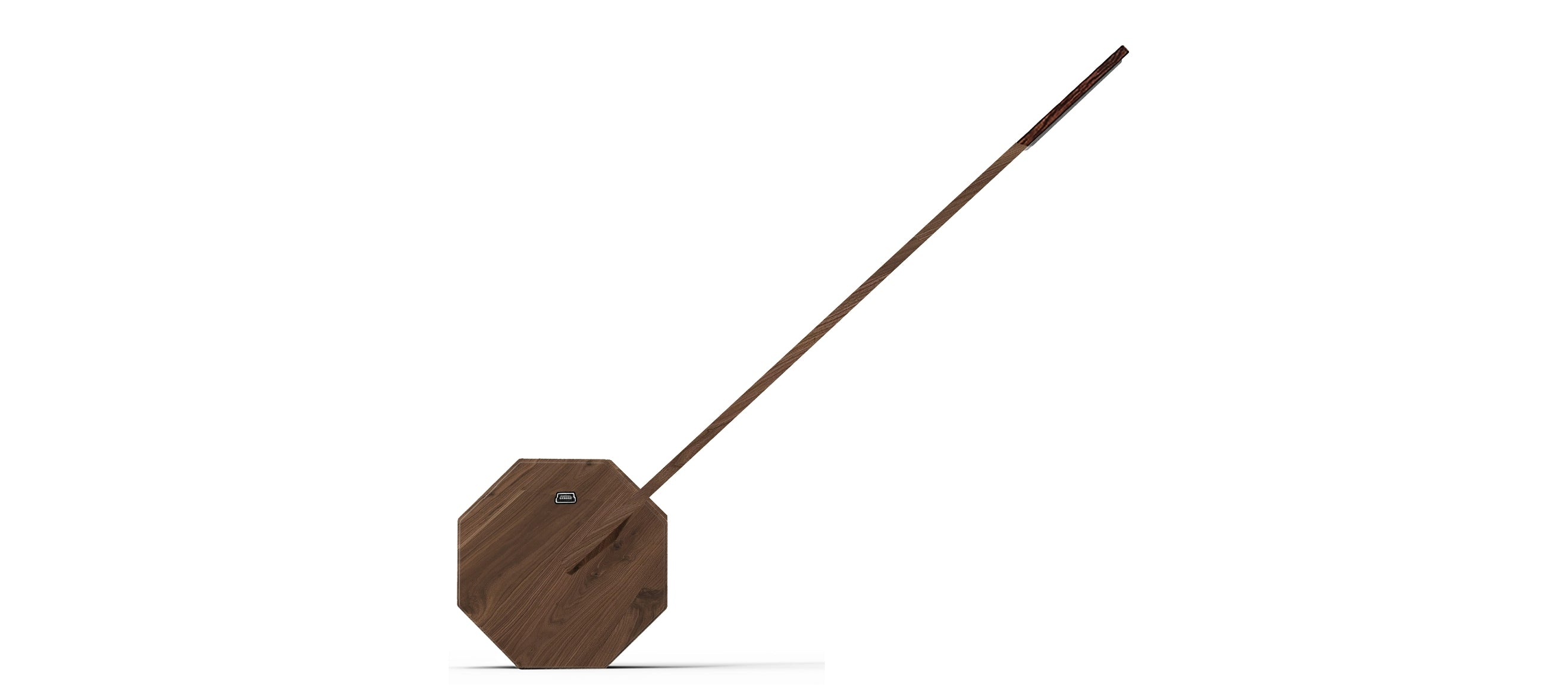 Octagon One Lamp Walnut