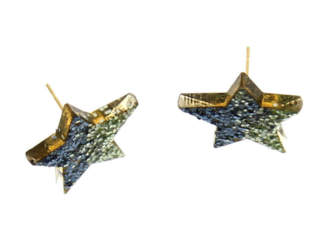 Glitter Stars Stud Earrings