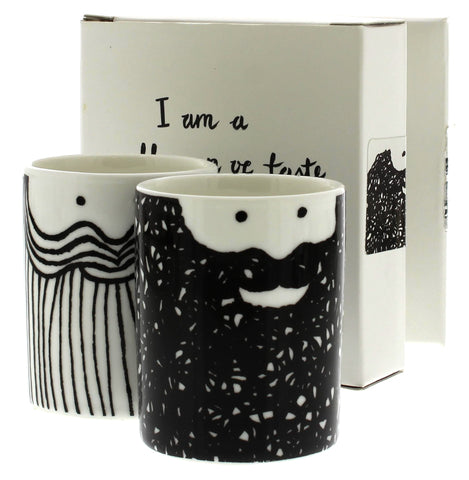 'Food in my Beard' Porcelain Egg Cup Set