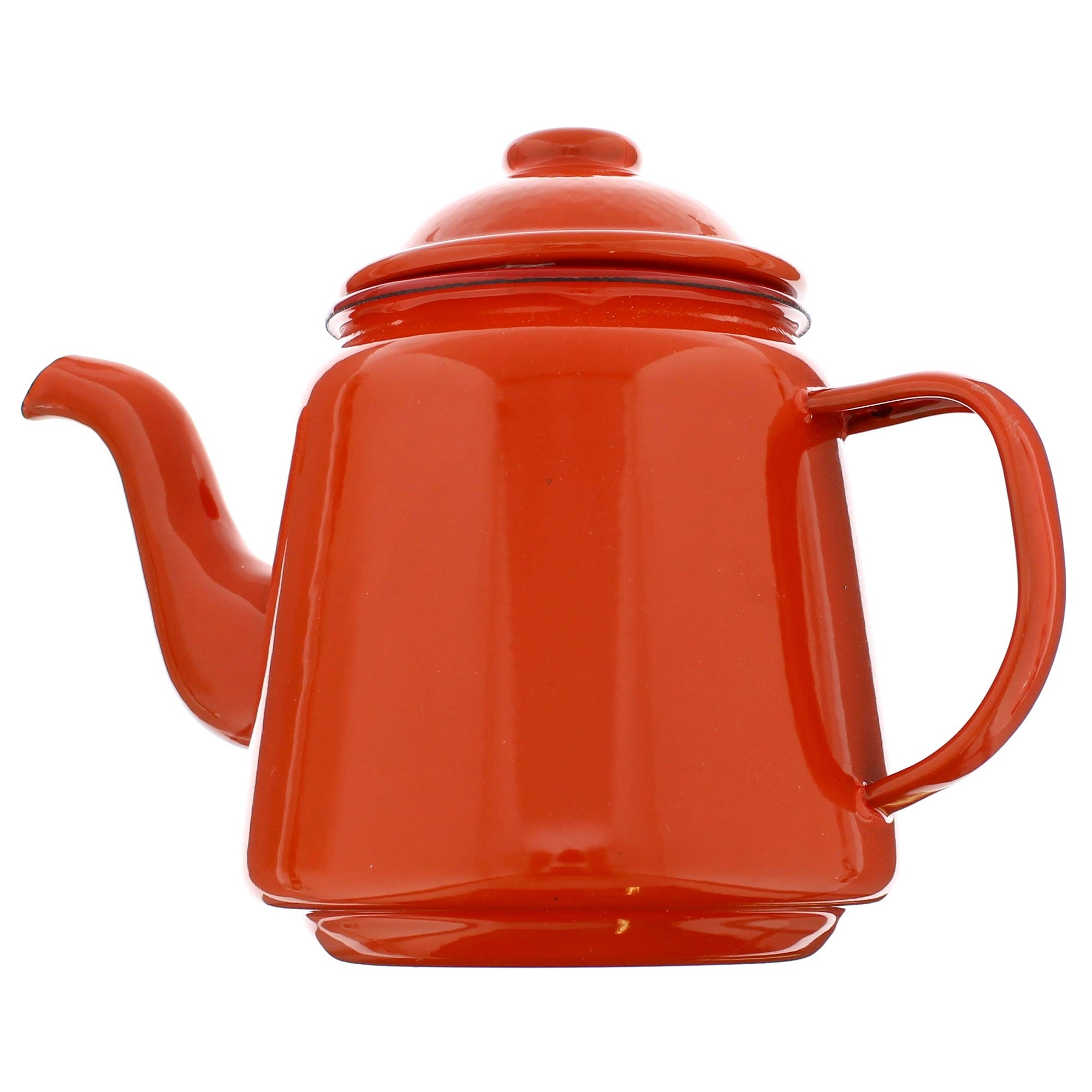 Red Falcon Enamelware Tea Pot