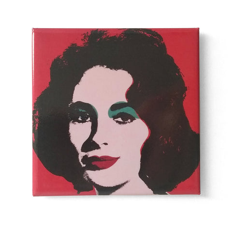 Dame Elizabeth Taylor by Andy Warhol Fridge Magnet