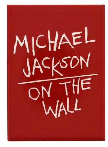 Michael Jackson On the Wall Red Fridge Magnet