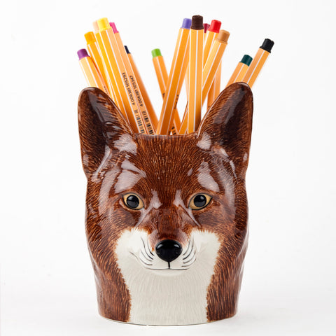 Ceramic Fox Pencil Pot