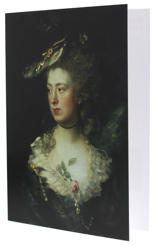 Mary Gainsborough, the Artist's Daughter Greetings Card