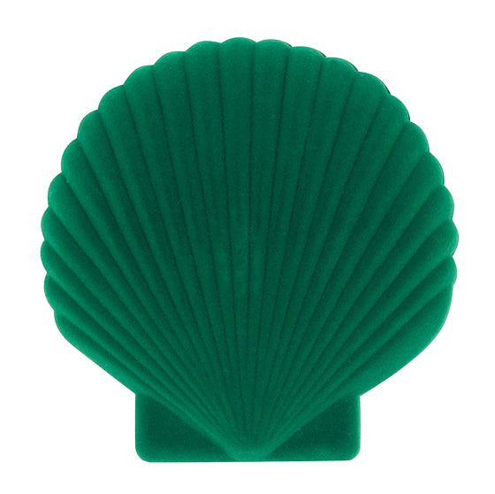 Green Velvet Shell Jewellery Box