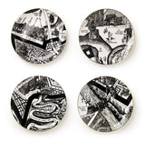 Grayson Perry Set of 4 'A Map of Days' Plates