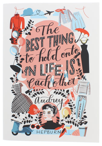 Audrey Hepburn Illustrated Tea Towel