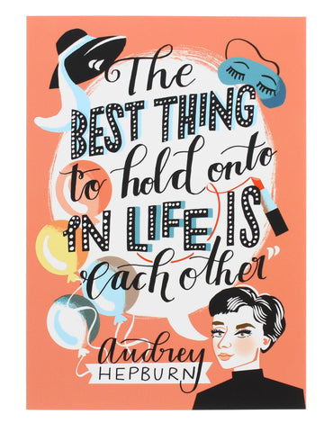 Audrey Hepburn Illustrated Greetings Card