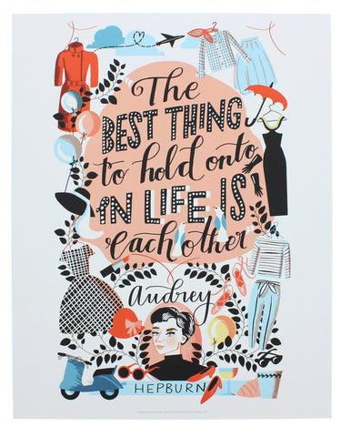 Audrey Hepburn Illustrated Mini-print