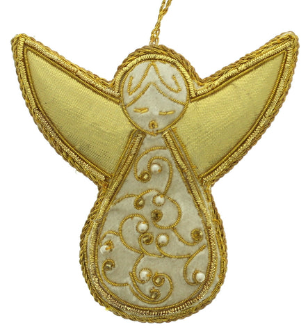 Ivory and Gold Angel Decoration