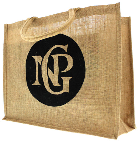 NPG Monogram Jute Bag