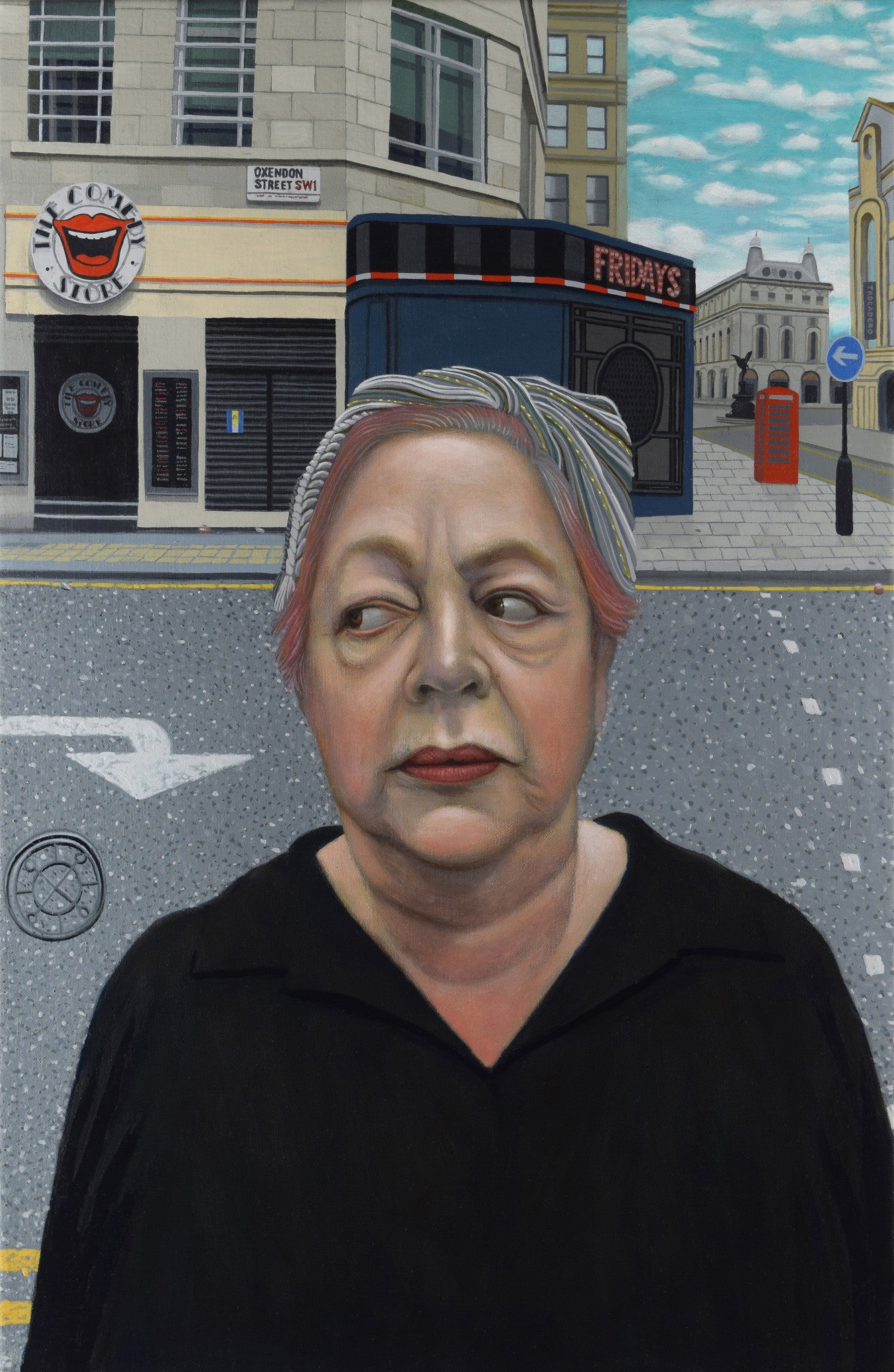 Jo Brand and The Comedy Club, comedienne (unframed)