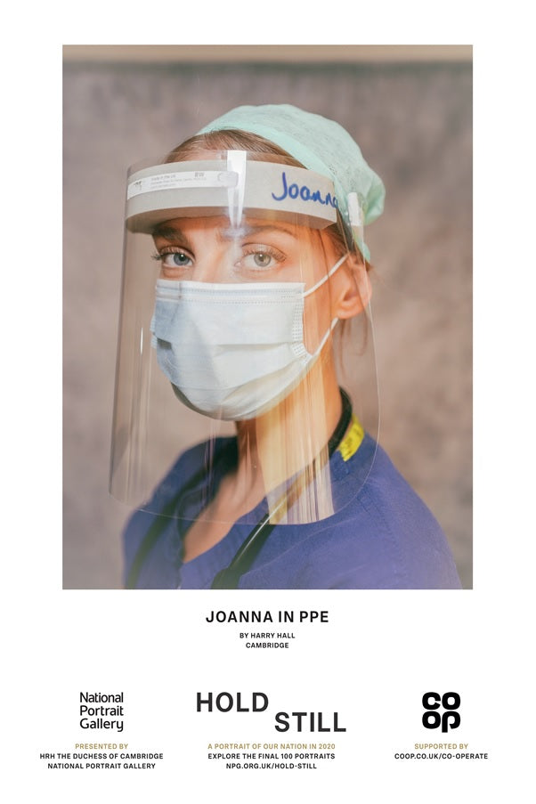 Joanna in PPE - Hold Still Poster