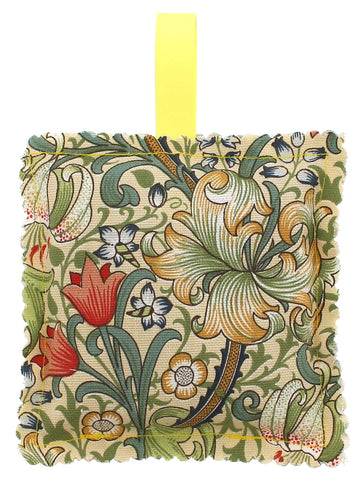 Golden Lily William Morris Fabric Lavender Bag