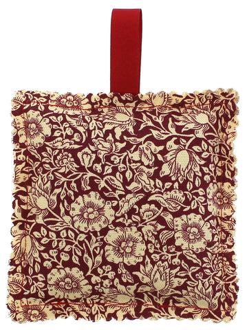 Wine William Morris Fabric Lavender Bag