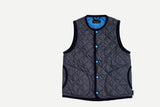 Lavenham Suffolk Navy Crew Neck Gilet