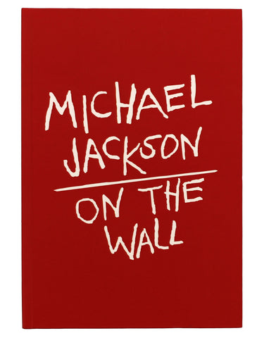 Michael Jackson On the Wall Red Hardback Journal
