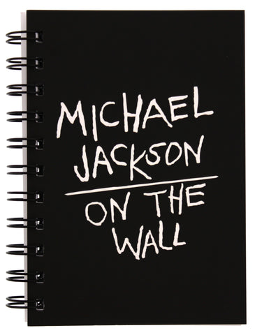 Michael Jackson On the Wall Black Wiro Notebook