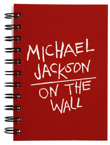 Michael Jackson On the Wall Red Wiro Notebook