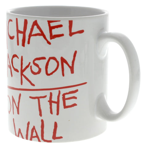 Michael Jackson On the Wall White Mug
