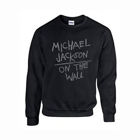 Michael Jackson On the Wall Black Sweat Shirt