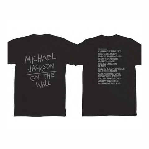 Michael Jackson On the Wall Black T-Shirt