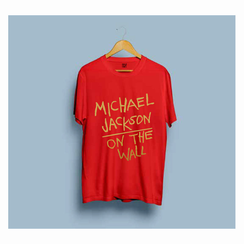 Michael Jackson On the Wall Red T-Shirt