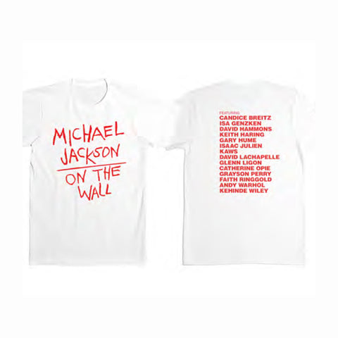 Michael Jackson On the Wall White T-Shirt