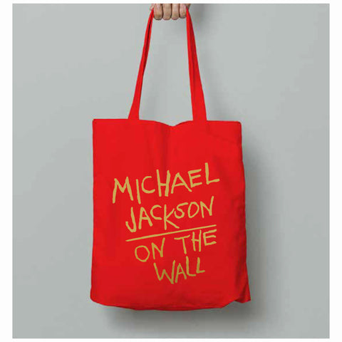 Michael Jackson On the Wall Red Tote Bag