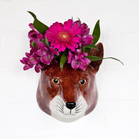 Ceramic Fox Wall Vase