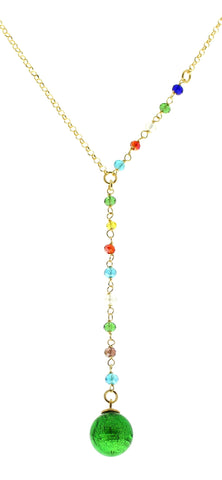 Murano Multicolour Drop Necklace