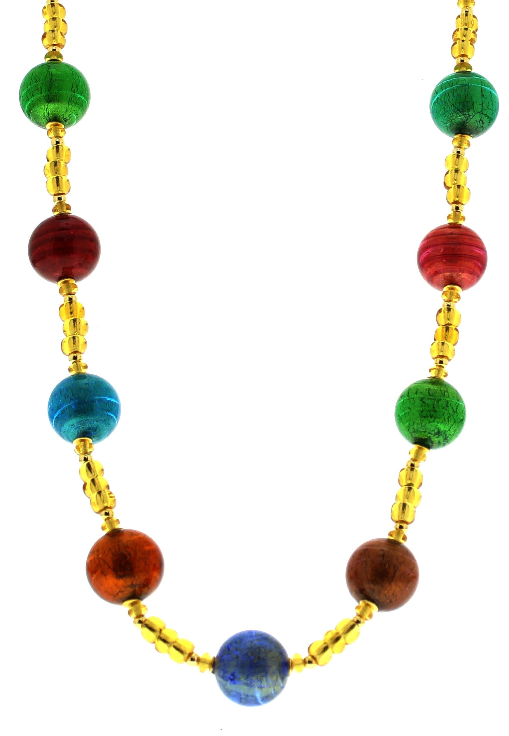 Murano Round Beads Necklace